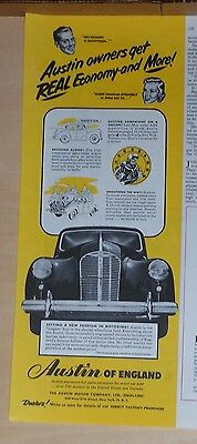 1950 magazine ad for Austin - Real Economy and More! New Fashion in Motoring