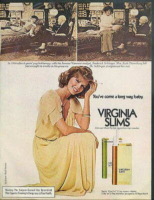 You've come a long way, baby Cheryl Tiegs for Virginia Slims ad 1975 Dr Freud