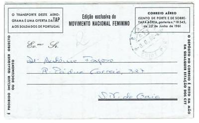 Portuguese Guinea MILITARY AIR LETTER-BISSAU 8/8/68-with message