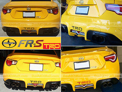 Scion Fr-S Trd 15 16 17 2015 2016 2017 Black Rear Bumper Letters Not Decals