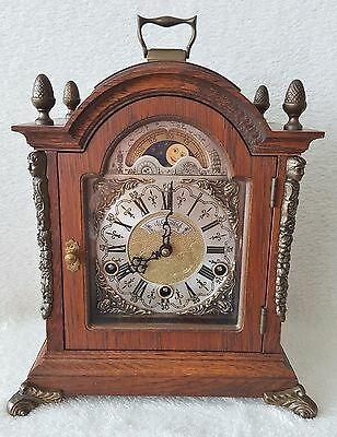 Warmink Westminster Chime Clock 8 Day Mantel Shelf Clock Moonphase Night Switch