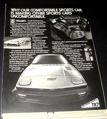 1977 Triumph TR7 sports car Ad