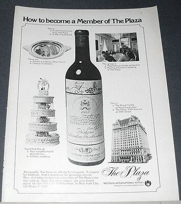 1975 THE PLAZA Hotel Ad ~ How to become a Member of The Plaza (test)