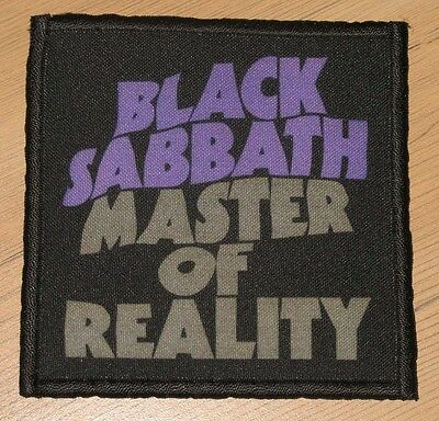 "BLACK SABBATH ""MASTER OF REALITY"" silk screen PATCH"