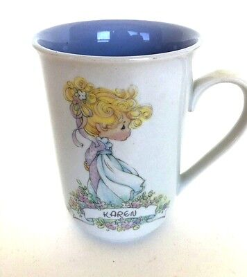 """Precious Moments Cup """"Karen"""" with Meaning of Name Mint"""