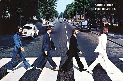 Beatles Abbey Road Poster 34 x 22 ~ $6.95 NEW