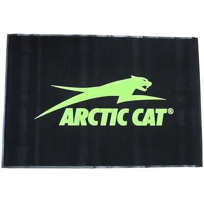 Arctic Cat 4-ft x 6-ft Floormat Shop Mat Rug Garage Entryway Hallway Black Green