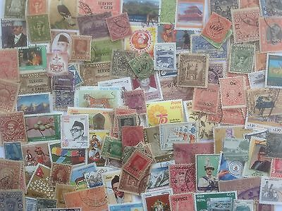 300 Different Indian States Stamp Collection - Includes Nepal