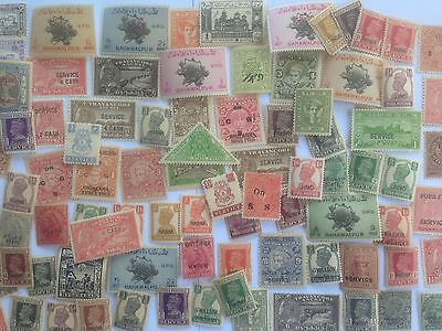 50 Different MINT Indian States Stamp Collection