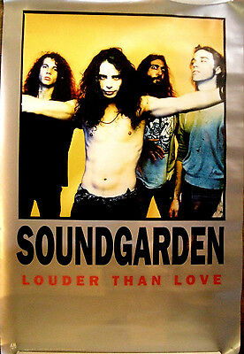 Soundgarden Louder Than Love Vintage 1990 Limited Edition Poster Chris Cornell