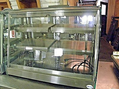 "Vendo Sanden Hi Capacity Hfd4 35"" Countertop Hot Food Chicken Heat Hold Display"
