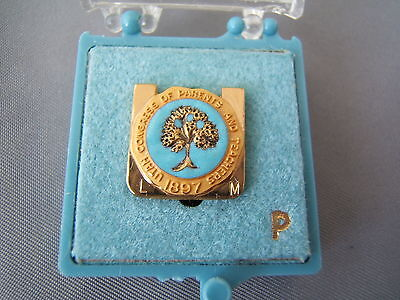 Vintage Utah Congress of Parents and Teachers Lapel Pin - With Case