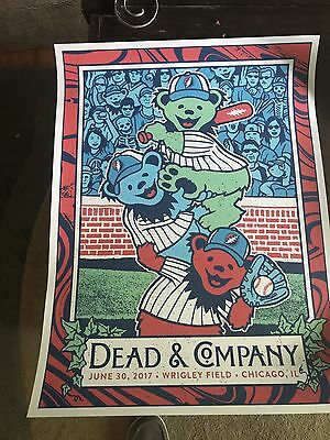Dead And Company Chicago Wrigley Field Poster Print