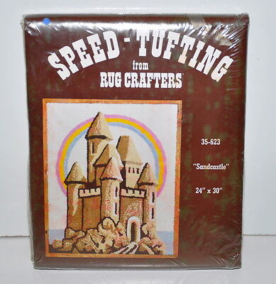 Vintage Rug Crafters Speed Tufting SandCastle 24 x 30 inches Sealed Sand Castle