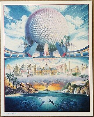 Disney Randy Souders Epcot at 10 Anniversary Epcot Center Art Print