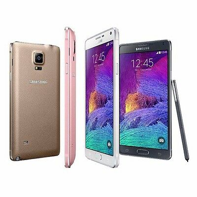 Android Samsung Galaxy NOTE4 AT&T Unlocked 32GB 4G LTE GSM 16MP Phone US STOCK