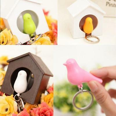 Single/Duo Sparrow Bird Nest KeyChain Key Ring Holder Hook Whistle Ring NEW Q