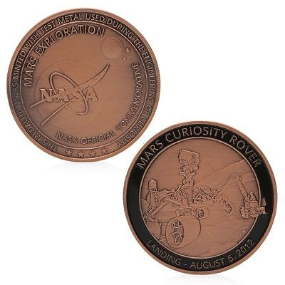 Nasa Exploration Commemorative Challenge Coin Red Bronze Plated Collection Gift