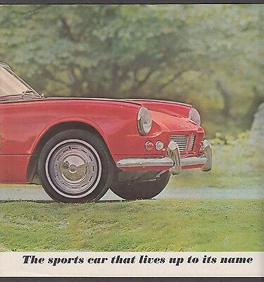 1962 Triumph Spitfire sales brochure folder