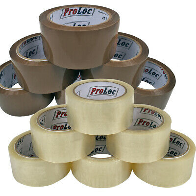 HIGH QUALITY CELLOFIX LOW NOISE BROWN / CLEAR PARCEL PACKING TAPES *48mm x 66M*