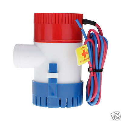 12V NON AUTOMATIC SUBMERSIBLE BOAT BILGE WATER PUMP 1100 GPH AUTO w/FLOAT SWITCH