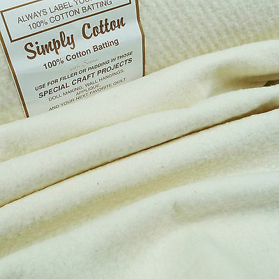 "Simply Cotton 100% Wadding 88"" / 220cm / batting quilting traditional antique"