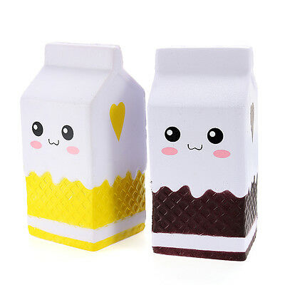 Squishy Jumbo Milk Bottle Box 11cm Slow Rising Soft Squeeze Stress Relieve Toys