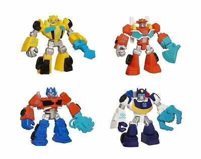 "Transformers Rescue Bots 4"" Optiumus Prime, Chase, Bumblebee & Heatwave Figures"