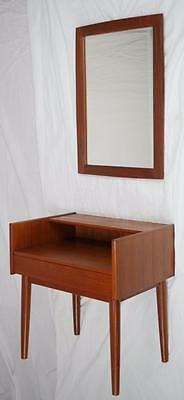 MODERN DANISH DESIGN - TEAK ENTRY SET/ NIGHT STAND + MIRROR - Wegner Era