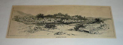 1886 magazine engraving ~ CULEBRA VILLAGE, Costa Rica