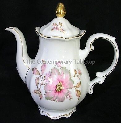 Mitterteich Pink DOGWOOD Porcelain China Coffee Pot with Lid Bavaria