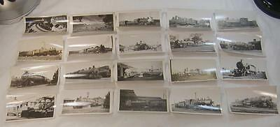Lot Of 20 1920`s-30`s Train Steam Engines Photos Most Identified 4 1/2X2 3/4 #2