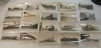 Lot Of 20 1920`s-30`s Train Steam Engines Photos Most Identified 4 1/2X2 3/4 #5