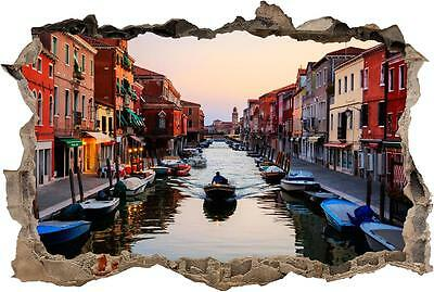 Window to Italy Venice boat brand new 3D sticker wall Decal for home ART W63