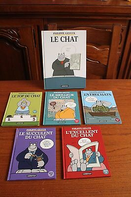 Lot 6 Bd Albums / Le Chat Philippe Geluck / Comme Neuves