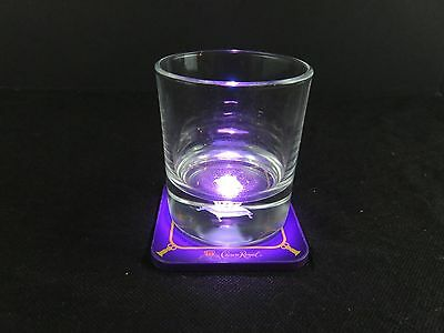 Crown Royal 3D Glass With Light Up Coaster --Limited Edition EUC