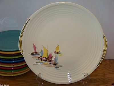 """1936 BAR HARBOR 10-1/2"""" Dinner Plate (#1) by Edwin M Knowles on Yorktown Shape"""
