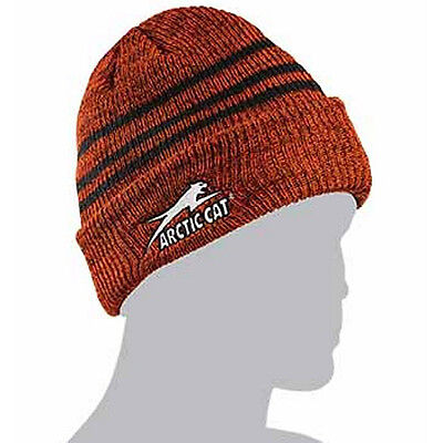 Arctic Cat Adult Aircat Stripes Watchman Beanie Stocking Hat - Orange - 5253-168