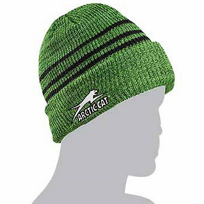 Arctic Cat Aircat Stripes Watchman Beanie Stocking Hat - Lime Green - 5253-167