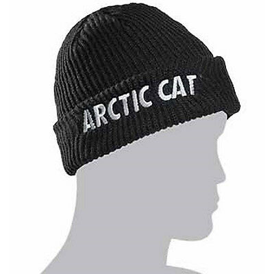 Arctic Cat Adult Watchman Beanie Hat - Black With Camouflage Lining - 5253-162