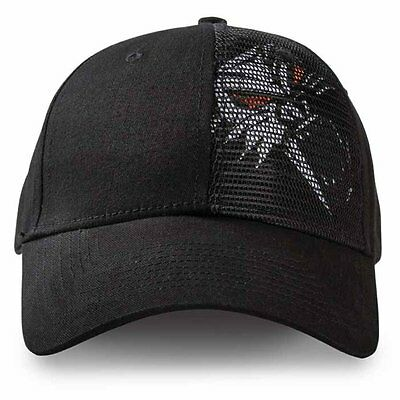 Arctic Cat Cathead Mesh Cap Hat - Black - Adult One Size Fits Most - 5253-131