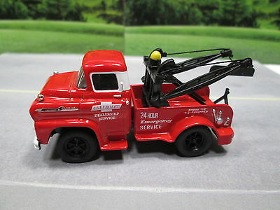 1958  '58 Chevy 50 Spartan Lcf Tow Truck Wrecker Red S Scale Loose