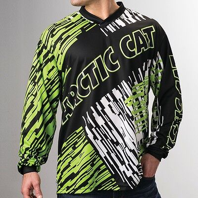 Arctic Cat Men's Polyester Jersey - Lime Green, White, & Black - 5259-89_