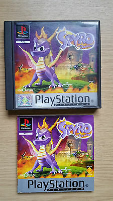 spyro the dragon ps1 game case and instructions only
