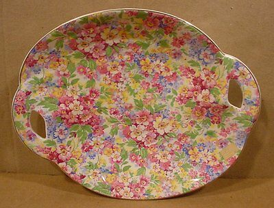 James Kent Apple Blossom 8 3/4 inch Shallow Chintz Candy Dish Made in England