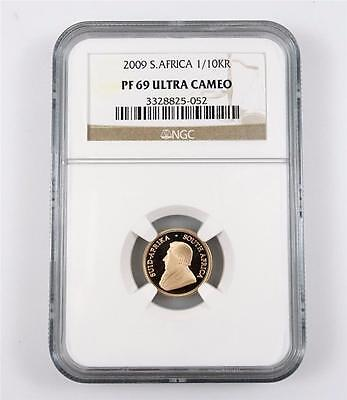 2009 South Africa 1/10 Oz PROOF Gold Krugerrand NGC PF69 *1064