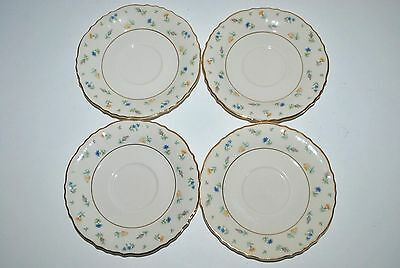 """SYRACUSE CHINA FEDERAL SHAPE ~ Suzanne ~ 4 PC 5 3/4"""" CUP SAUCERS"""