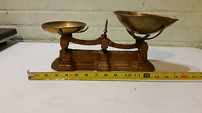 Gold Antique Scale with Brass Trays