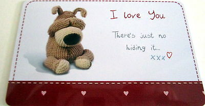 """boofle"" Heart Warmer Keepsake Message Card ""i Love You There's No Hiding Itxxx"""
