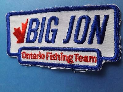 Patch Big Jon Ontario Fishing Team Canada Vintage Fish Dpwnrigger Equipment